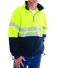 Hi vis fleece with logo